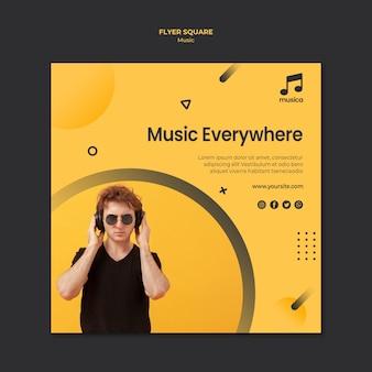 Szablon ulotki muzyki