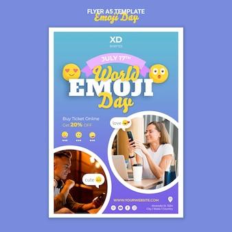 Szablon ulotki na dzień emoji
