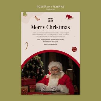 Szablon ulotki na świąteczne zakupy