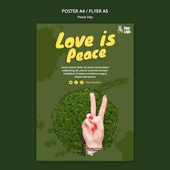 Szablon ulotki na światowy dzień pokoju