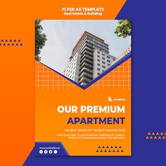 Szablon ulotki nieruchomości i budynku