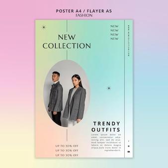 Szablon ulotki nowej kolekcji mody