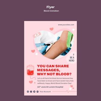 Szablon ulotki o oddawaniu krwi