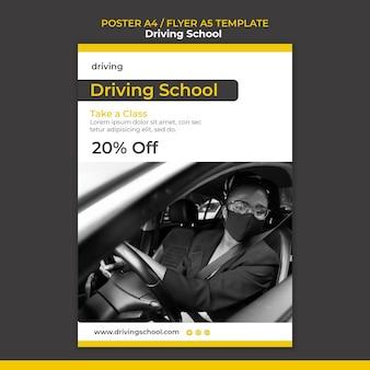 Szablon ulotki o szkole jazdy