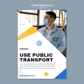 Szablon ulotki o transporcie publicznym