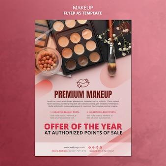Szablon ulotki oferty makijażu