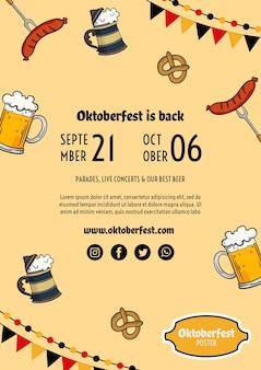 Szablon ulotki oktoberfest