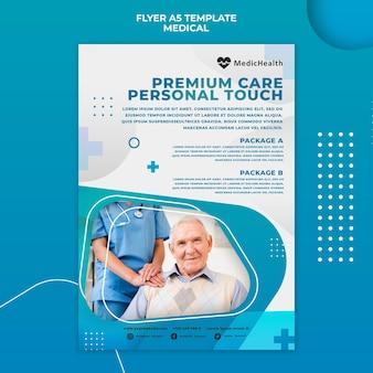 Szablon ulotki opieki zdrowotnej premium