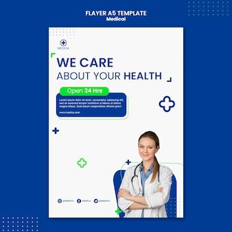 Szablon ulotki opieki zdrowotnej