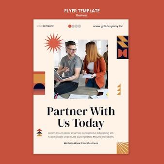 Szablon ulotki partnera biznesowego