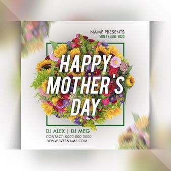 Szablon ulotki party dzień matki