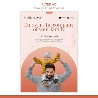 Szablon ulotki projektu rodziny