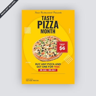 Szablon ulotki reklamowej fast food