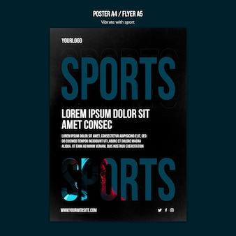 Szablon ulotki reklamowej sportu
