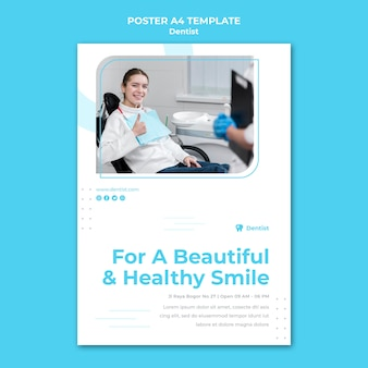 Szablon ulotki reklamy dentysty