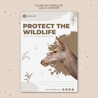 Szablon ulotki rekreacyjnej i dzikiej przyrody