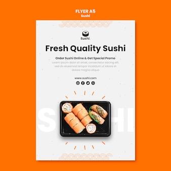 Szablon ulotki restauracji sushi