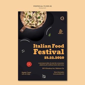 Szablon ulotki restauracji włoskiej