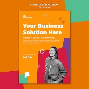 Szablon ulotki rozwiązania biznesowego