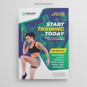 Szablon ulotki siłowni fitness