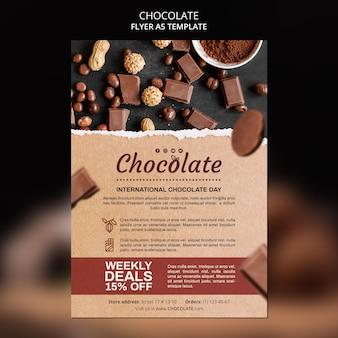 Szablon ulotki sklep z czekoladą