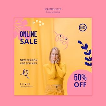 Szablon ulotki sprzedaż online