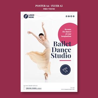 Szablon ulotki studio tańca