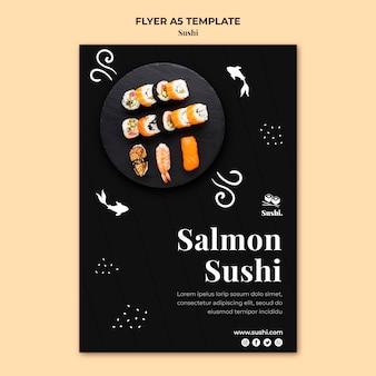 Szablon ulotki sushi ze zdjęciem