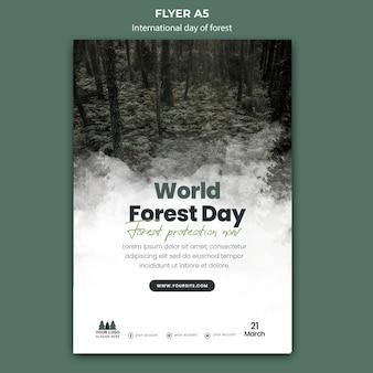 Szablon ulotki światowego dnia lasu