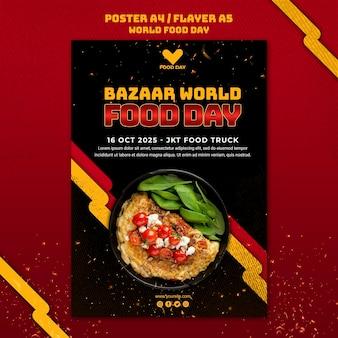 Szablon ulotki światowego dnia żywności