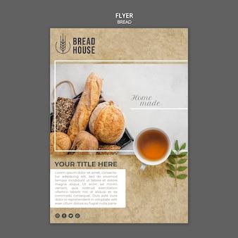 Szablon ulotki świeżo upieczony chleb