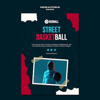 Szablon ulotki szkolenia koszykówki