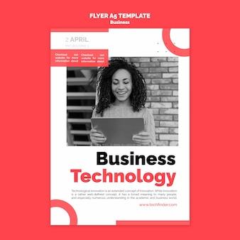 Szablon ulotki technologii biznesowych