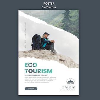 Szablon ulotki turystyki ekologicznej