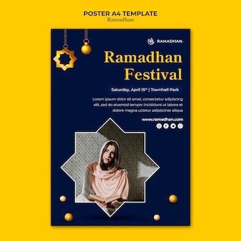 Szablon ulotki uroczystości ramadanu