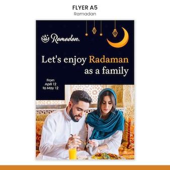 Szablon ulotki wydarzenia ramadan