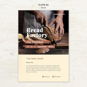 Szablon ulotki z chlebem