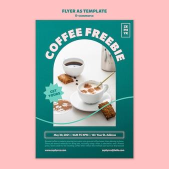 Szablon ulotki z kawą freebie