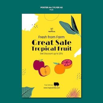 Szablon ulotki z owocami