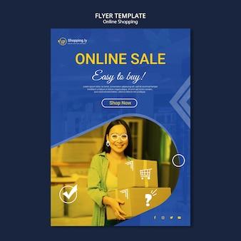 Szablon ulotki zakupy online