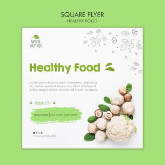 Szablon ulotki zdrowej żywności