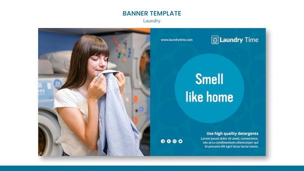 Szablon usługi pralni transparent