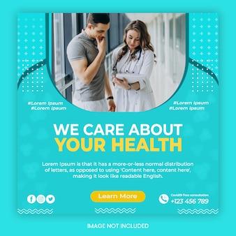 Szablon usługi reklamowej opieki medycznej i zdrowotnej