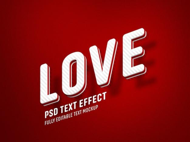 Szablon valentine efekt tekstowy miłości