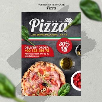 Szablon voster dla włoskiej pizzerii