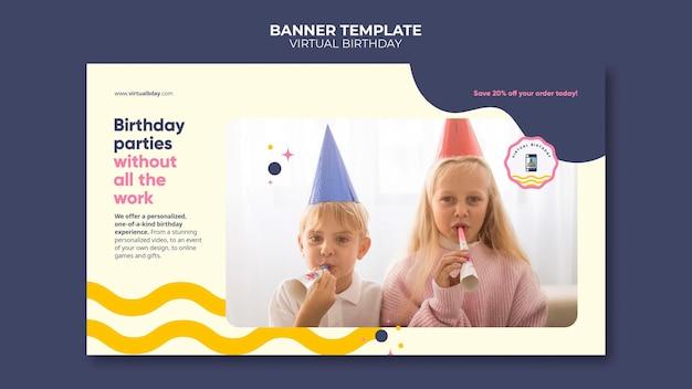 Szablon wirtualnego banera urodzinowego