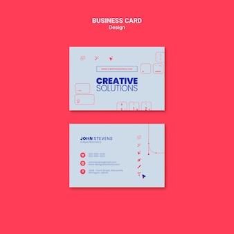 Szablon wizytówki dla kreatywnych rozwiązań biznesowych