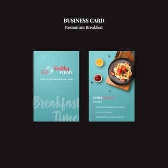 Szablon wizytówki dla restauracji
