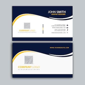 Szablon wizytówki korporacyjnych czarny i żółty