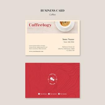 Szablon wizytówki kreatywnych kawiarnia